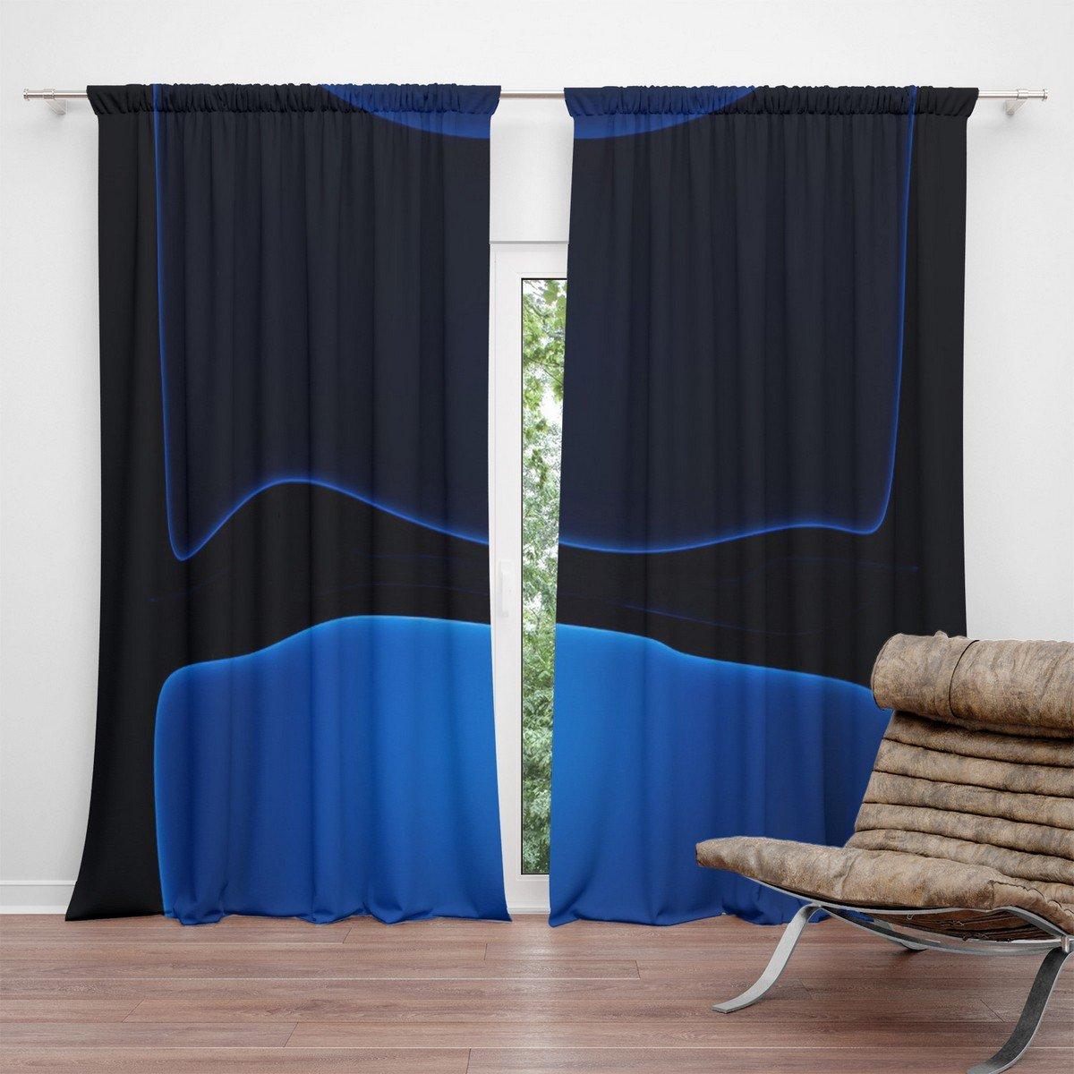 Ios 13 Dark Blue Blackout Curtains For Living Room Crush Curtain